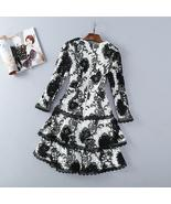 Ty princess women black white lace embroidery flare sleeve cascading lace party exotic thumbtall