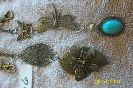 # purse jewlrey bronze color keychain backpack filigree charms lot 06 lot of 2 image 2