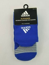 new Adidas Alphaskin men socks climalite arch compression blue L MSRP$18 - $9.89