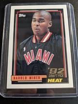 1992-93 Topps #278 Harold Miner Miami Heat RC Rookie Pack Fresh Mint - $9.99