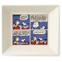 Peanuts Snoopy Great Pumpkin Treat Dish Hallmark Halloween Fall Plate Ca... - $44.54