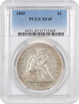 1845 $1 PCGS XF45 - Great Type Coin - Liberty Seated Dollar - Great Type... - $1,183.40