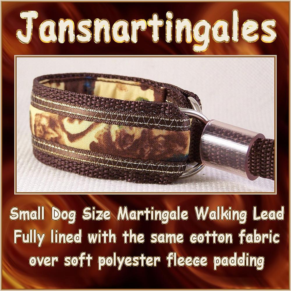 Jansmartingales, Martingale Collar/Leash Combination, Small Dog Size, ibrn026