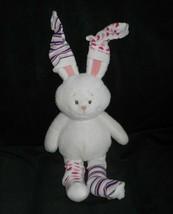 """16"""" Baby Ganz Hoppity Socks White Bunny Rabbit Stuffed Animal Plush Toy Pink - $25.76"""
