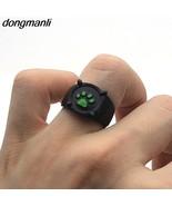 P1045 Dongmanli Black Cat Green Paw Print Ring for women Miraculous Lady... - $7.60