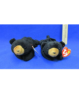 TY Beanie Babies Plush Original Stuffed Animal 1994 Blackie The Bear Lot... - $12.22