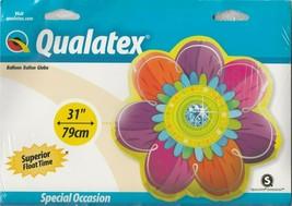 "Qualatex Berry & Orange Jeweled Blossom Flower 31"" Foil Balloon - $12.58"