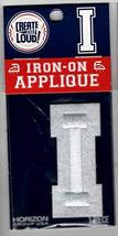 Letter I Embroidered Iron-On or Sew-On DYO Patch 2 Inches High - $4.90