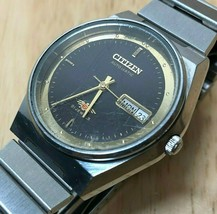 Vintage Citizen Mens 21 Jewels Steel Self-Winding Automatic Watch Hours~... - $37.99