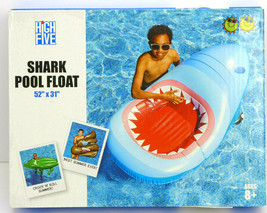 """High Five Giant Inflatable Shark / Jaws  Pool Float 52"""" x 31""""  - $23.99"""