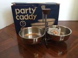 Vintage Foley Stainless Steel Party Caddy Nuts Candy New in Box - $9.89