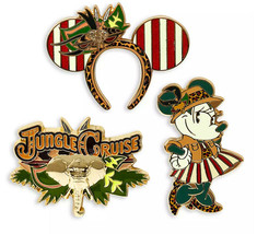 Minnie Mouse The Main Attraction Pin Set Jungle Cruise Limited Release  - $49.49