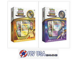 Pokemon Shining Legends Mewtwo and Pikachu Collection Pin Boxes 6 Booster Pack - $32.99