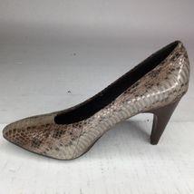 Leather Makowsky Women's Stacked 5 B Size Shoes 6 Us Snake Gray Misty Heel M xwfBfTH