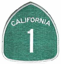 California Highway 1 Embroidered Sew or Iron-On Patch -Size 2 3/4 x 3 inch - $5.89