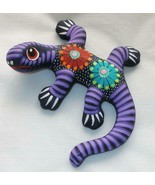 "Ceramic Clay Lizard Gecko Figurine Hand-painted Colorful Wall Art 6"" L21 - $16.82"