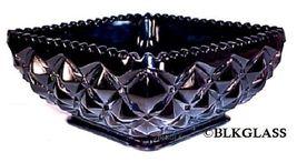 Imperial Glass Ebony Black Bowl, Heavy Block,  Diamond Block, Square Honey Dish - $22.87