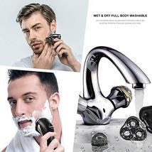 HATTEKER Electric Shaver Rotary Razor Men Cordless Beard trimmer Pop-trimmer Wet image 7