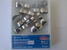 Dental TWO PACKS Metal Contoured Matrices Molar,Combine&Clamp10 pcs ea T... - $15.58