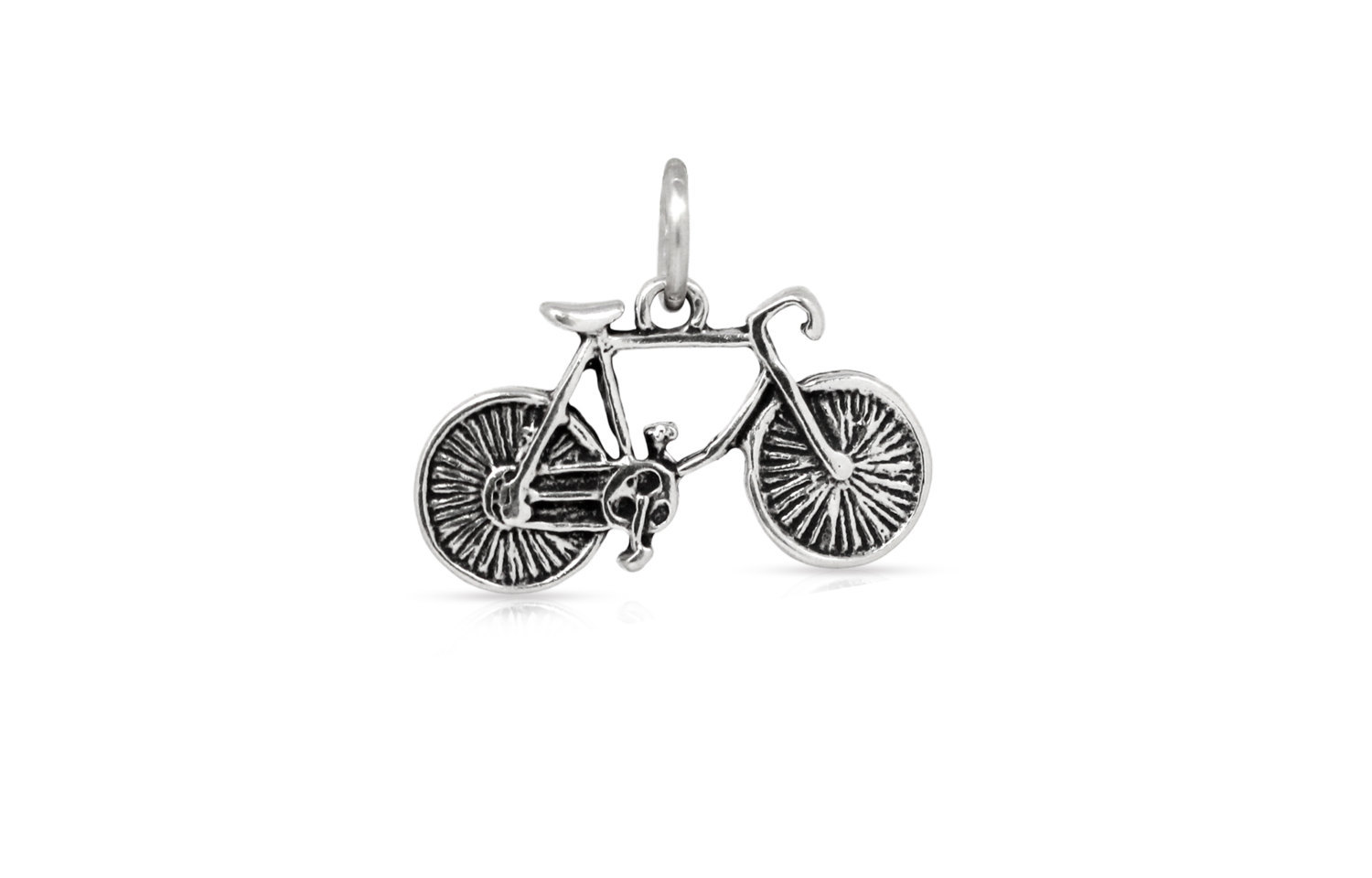 Primary image for Charm, Bicycle, Sterling Silver, 11.5x19mm, Pkg Of 1pc (3283)/1