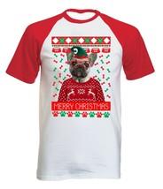 French Bulldog 2 Christmas - COTTON BASEBALL TSHIRT ALL SIZES - $19.76