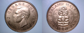 1951 New Zealand Half 1/2 Penny World Coin - $17.99