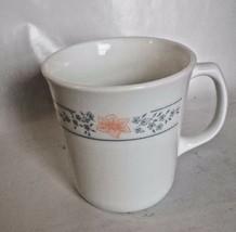 Corelle By Corning VTG Apricot Grove Coffee Tea Mugs Peach flowers Blue floral - $4.00