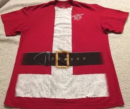 "Men's Red Santa ""suit"" Funny T-shirt Sz Large ""Does This Suit Make Me Lo... - $10.99"