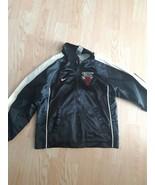 Chicago Bulls Windbreaker Jacket Boys Kids Size 7 Black White Nike Baske... - $24.31
