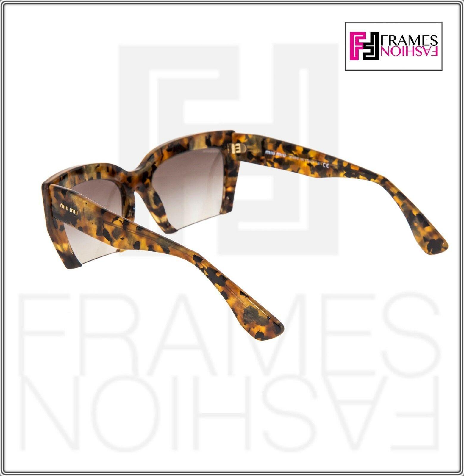 MIU MIU RASOIR 11O Square Sunglasses MAN-0A7 Caramel Marble Sunglasses MU11OS image 3