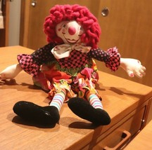 "OOAK ONE OF A KIND VINTAGE Handmade Clown DOLL 24"" - $34.60"