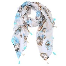 Womens Scarf Lightweight Floral Shawl Wraps Long Head Scarfs for Women - $13.12