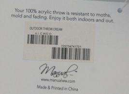 Manual AICWCO Indoor Outdoor Acrylic Throw Blanket Color Cream image 3