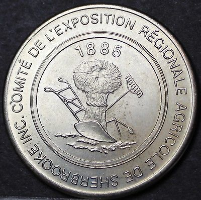 Sherbrooke Quebec Canada 100th Anniversary Trade Token Dollar 1985~UNC~Free Ship - $7.92