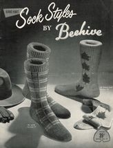 1950's Mens Golf Darts Shamrock Maple Leaf Knit Arrow Aladdin Heel Socks... - $13.99