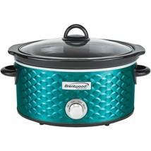 Brentwood Appliances SC-140BL 4.5-Quart Scallop Pattern Slow Cooker (Blue) - £47.96 GBP