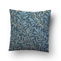 Vintage Floral Willow Bough Blue Throw Pillow Case Decorative Cushion Cover - $17.29