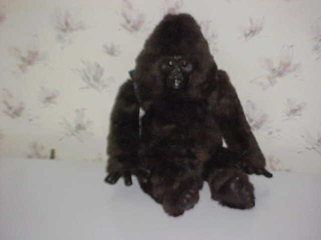 "20"" Amy Gorilla Plush Toy With Backpack From Congo By Kenner Hasbro 1995"
