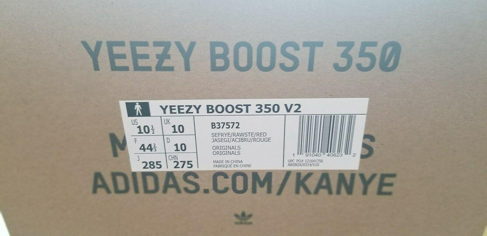 Nuevo Adidas Yeezy 350 V2 Semi Frozen Amarillo B37572 Marca Nuevos en Caja image 4