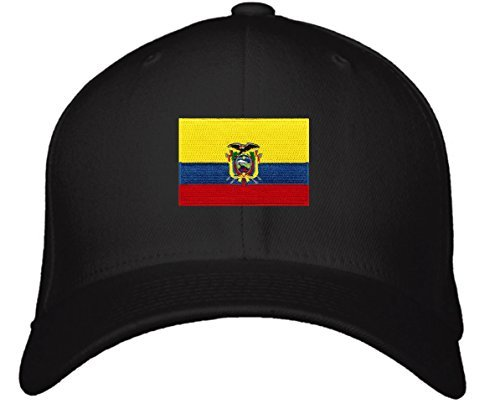 Ecuador Flag Hat - Adjustable Men's Cap Yellow/Blue/Red Coat of Arms