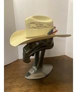 Justin 20X Milano Hat Co Authentic Headwear Straw Cowboy Western Hat Sz ... - $25.00