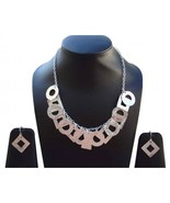 Royal Ethnic Fashion Silver Plated Geomatric Necklace - $10.99
