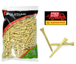 """Orlimar Wooden Golf Tees Re-Sealable Pack of 500 2-3/4"""" 70mm NEW - $27.87"""