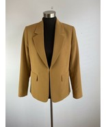 Tahari Arthur Levine Womens Blazer 6 Small Camel Brown  - $98.99