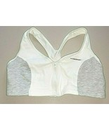 Size 40 (Fits A-B-C Cups) Hanes Zip Front Cotton Racerback Sports Bra G375 - $12.85