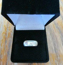 Vintage Signed MEXICO PR 74 Sterling Silver 925 US Size 4 Wedding Band Ring - $29.03