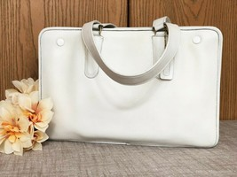 Unique Vintage Coach Marketing Tote in White Leather - NYC Style 9665  1... - $222.74
