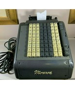 Vintage Monroe Electric Adding Machine Office Bank Calculator Printing 1959 - $175.00