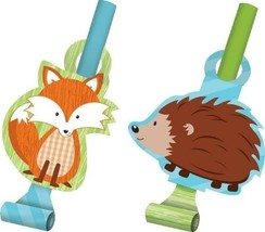 Forest Fox Blowouts (8) - Birthday Party Supplies - $5.14