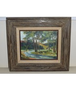 LISTED ARTIST RICHARD WEERS ORIGINAL SIGNED AND FRAMED OIL ON BOARD PAIN... - $399.00